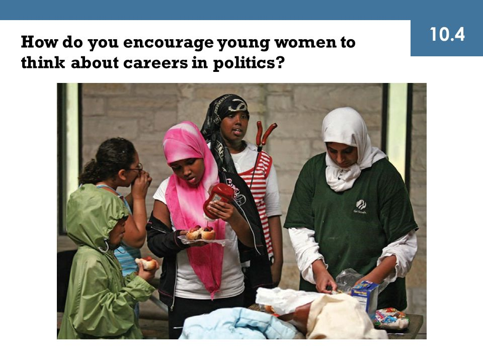 10.4 How do you encourage young women to think about careers in politics