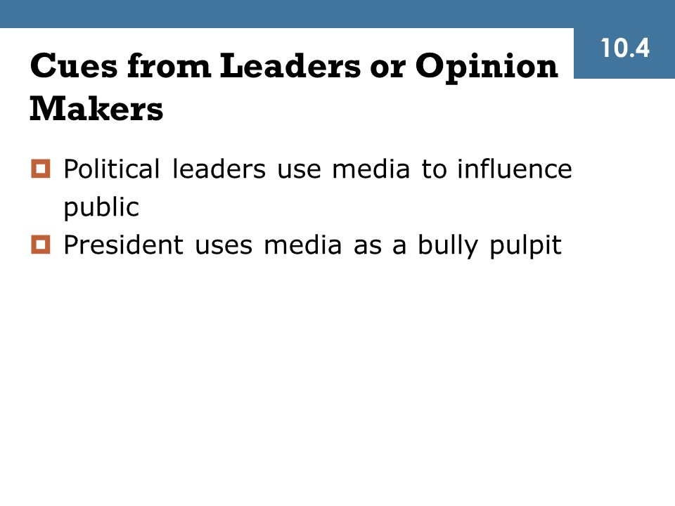 Cues from Leaders or Opinion Makers