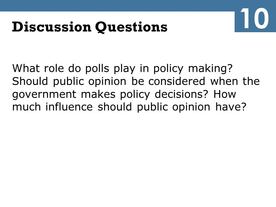 10 Discussion Questions.
