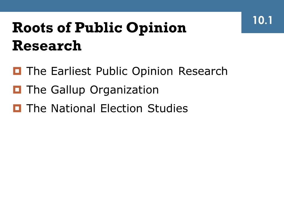 Roots of Public Opinion Research