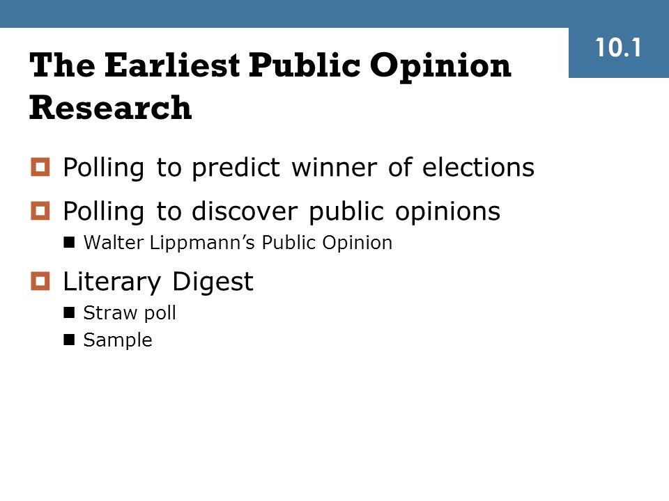 The Earliest Public Opinion Research