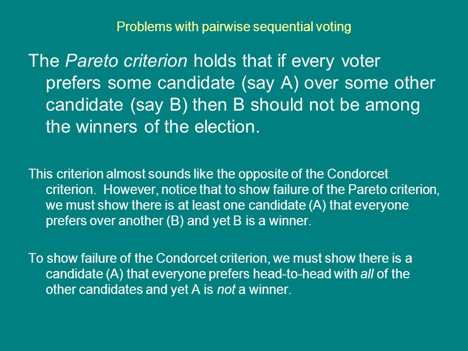 Problems with pairwise sequential voting