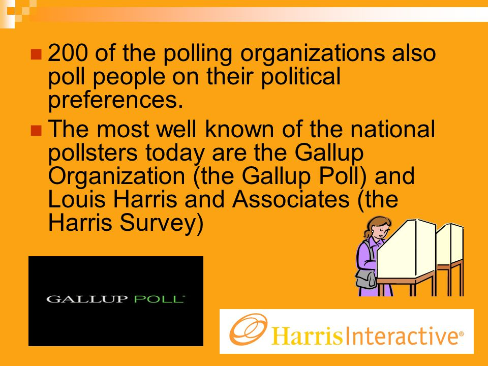 200 of the polling organizations also poll people on their political preferences.