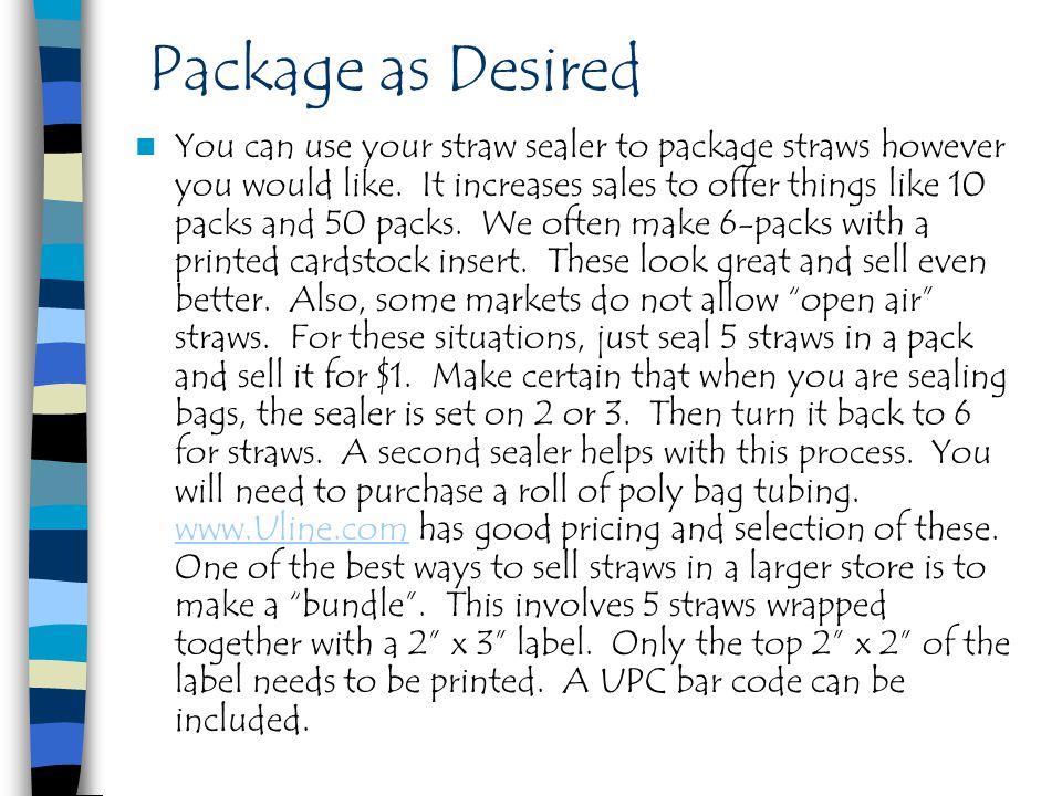 Package as Desired