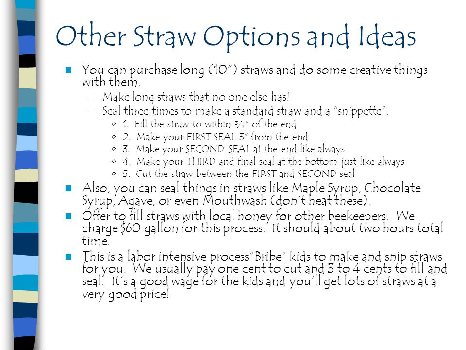 Other Straw Options and Ideas