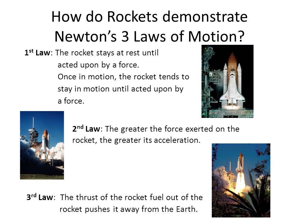 How do Rockets demonstrate Newton's 3 Laws of Motion