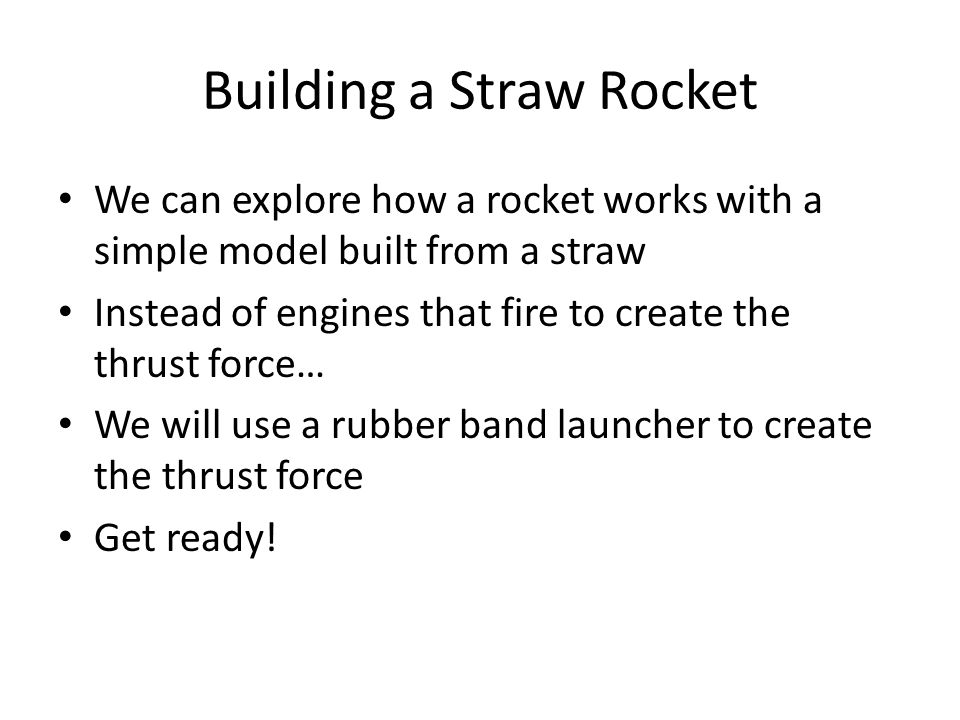 Building a Straw Rocket