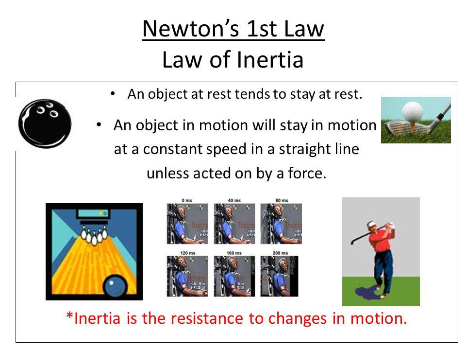 Newton's 1st Law Law of Inertia