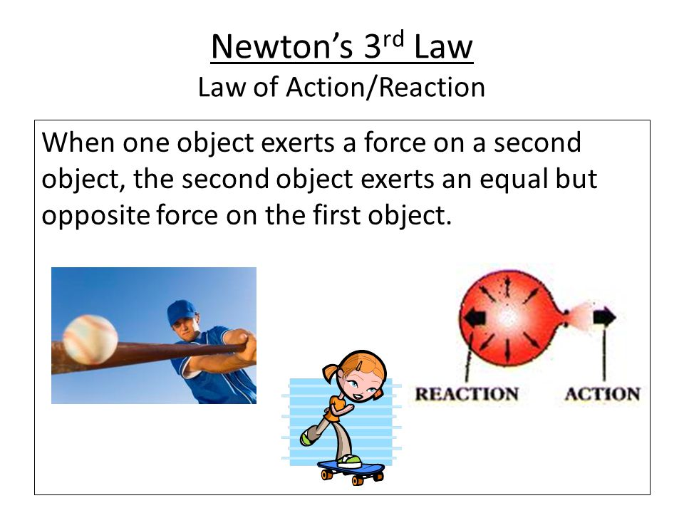Newton's 3rd Law Law of Action/Reaction