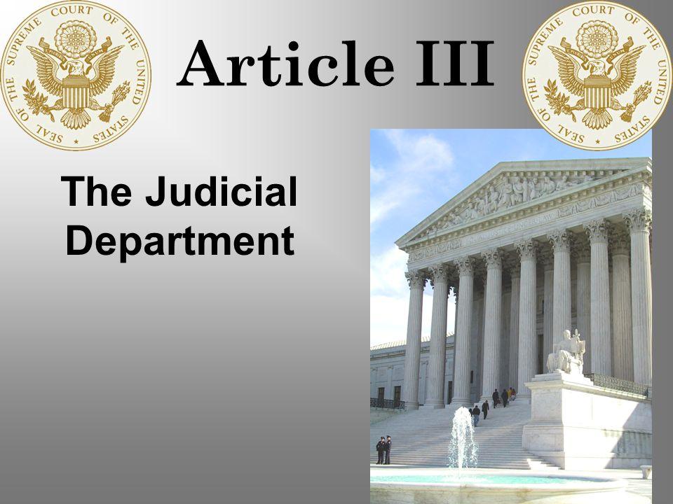 The Judicial Department