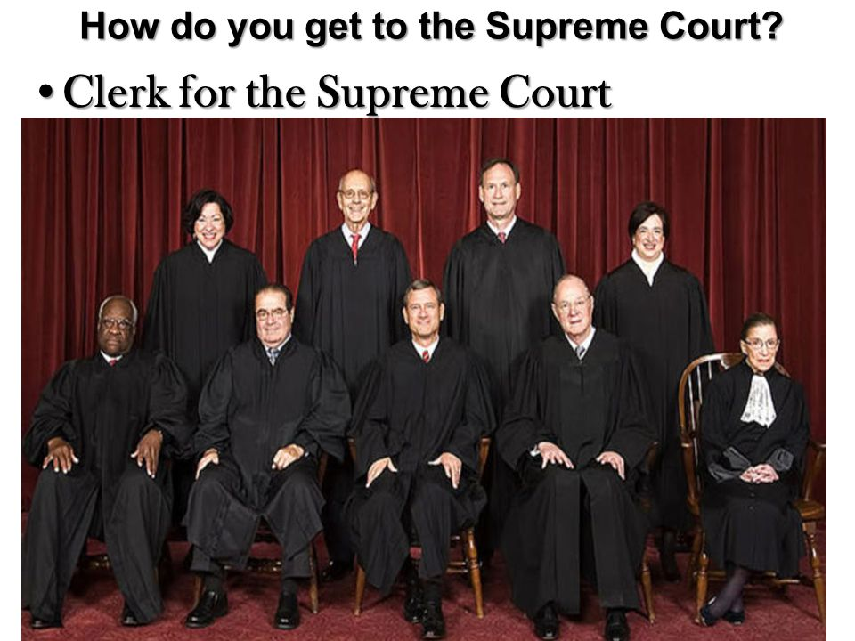 How do you get to the Supreme Court