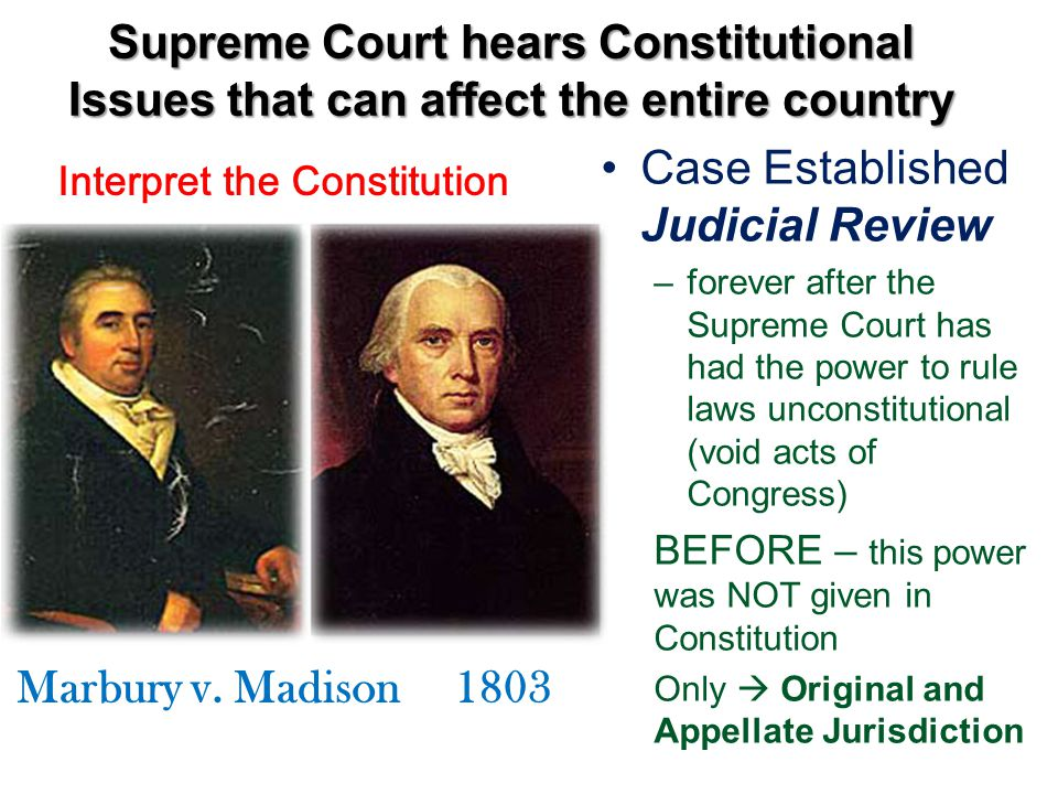 Case Established Judicial Review
