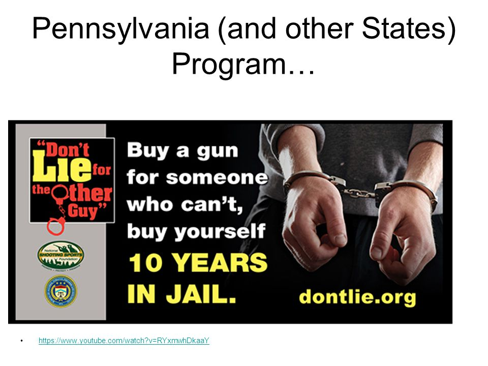 Pennsylvania (and other States) Program…