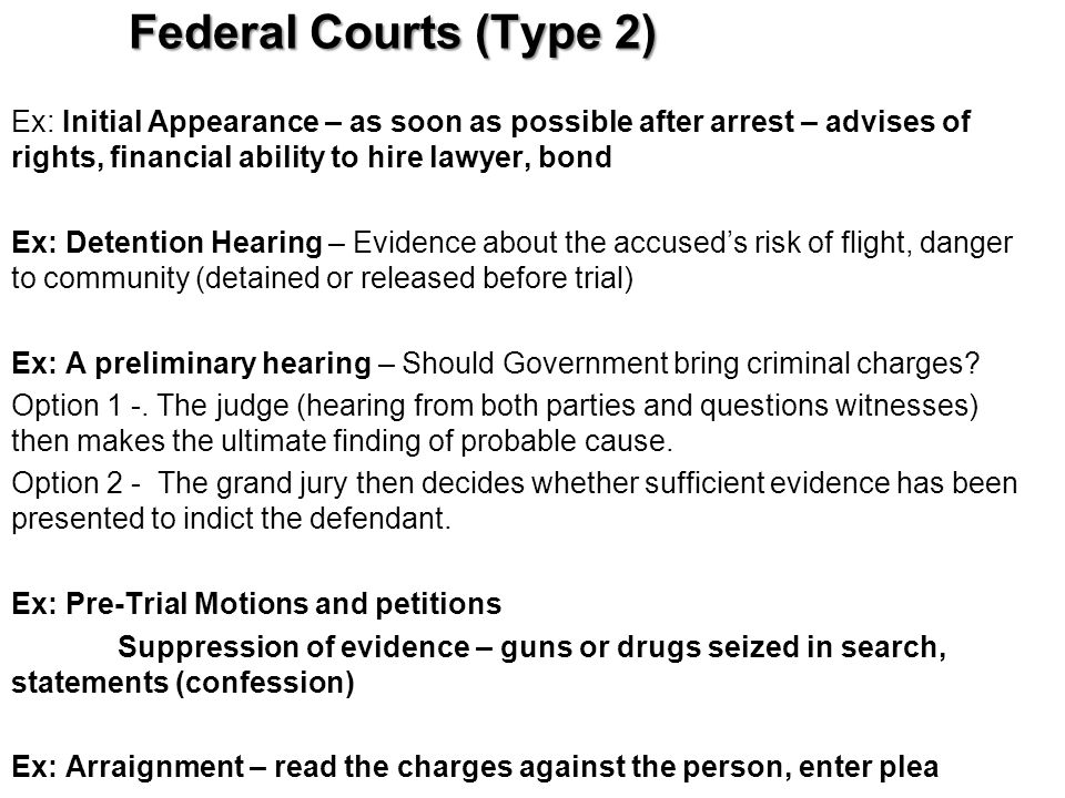 Federal Courts (Type 2)