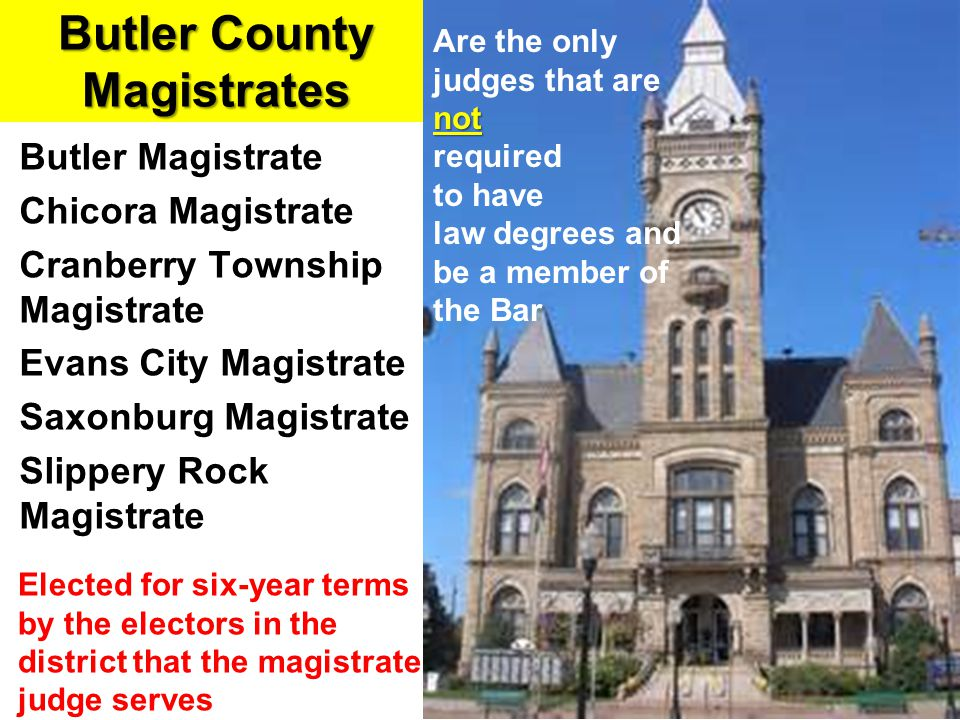 Butler County Magistrates