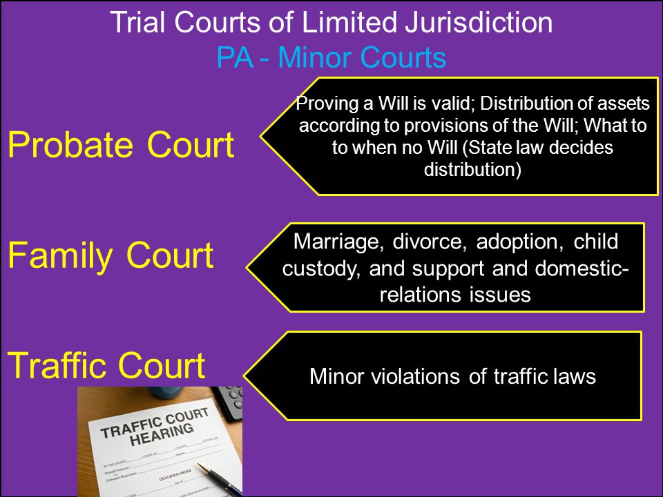 Probate Court Family Court Traffic Court