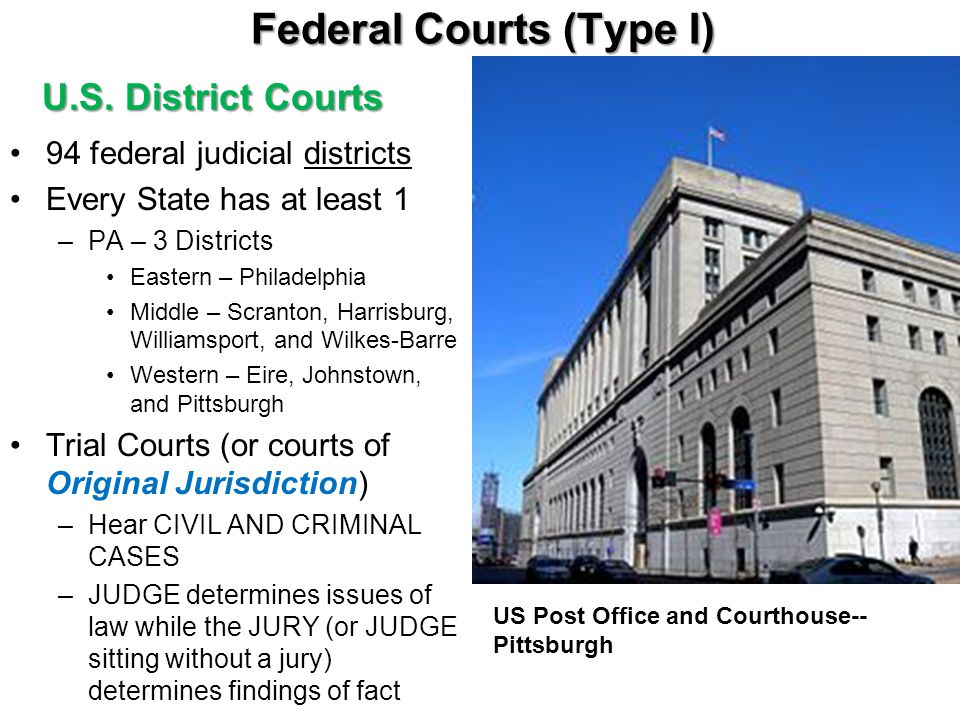 Federal Courts (Type I)