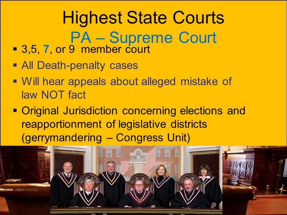 Highest State Courts PA – Supreme Court