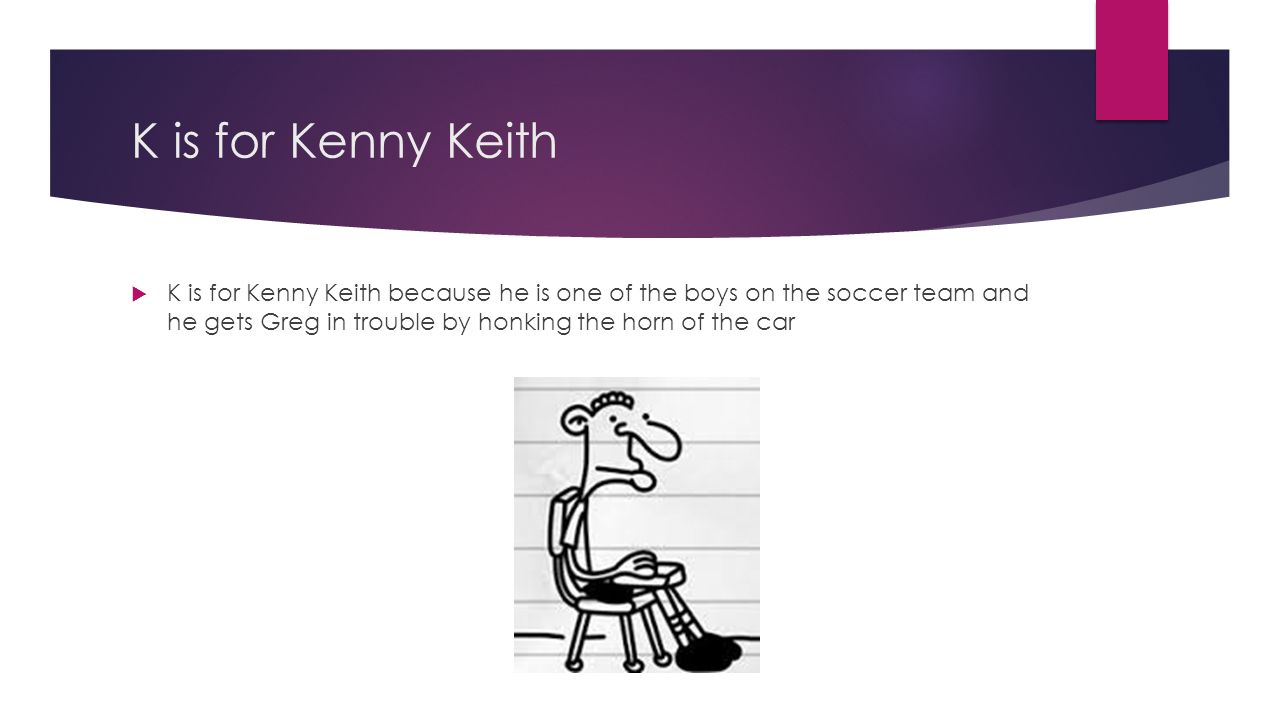 K is for Kenny Keith