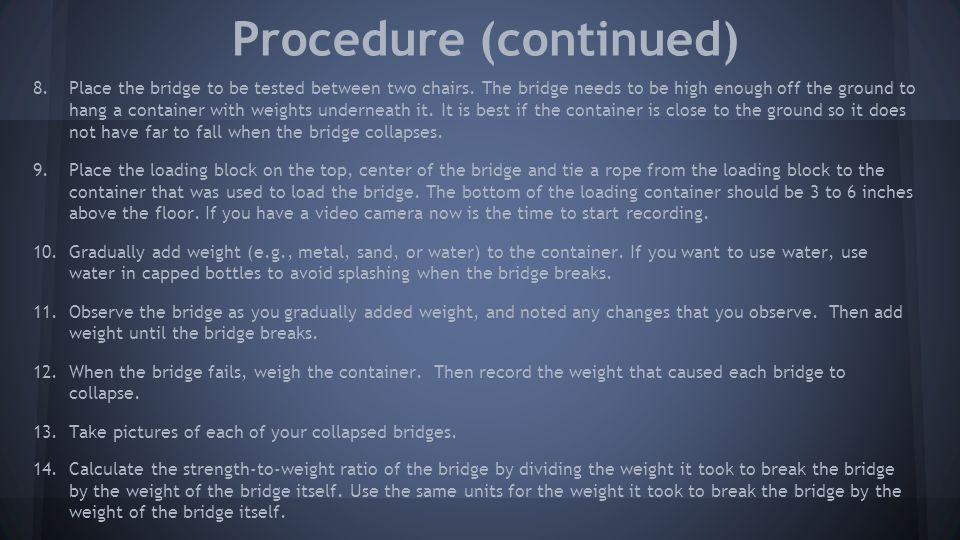 Procedure (continued)