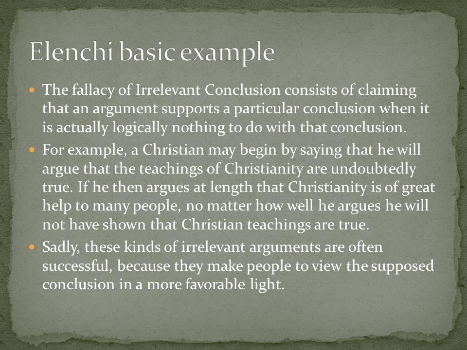 Elenchi basic example