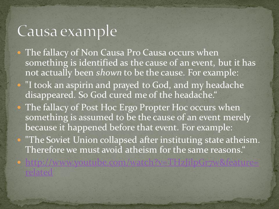 Causa example