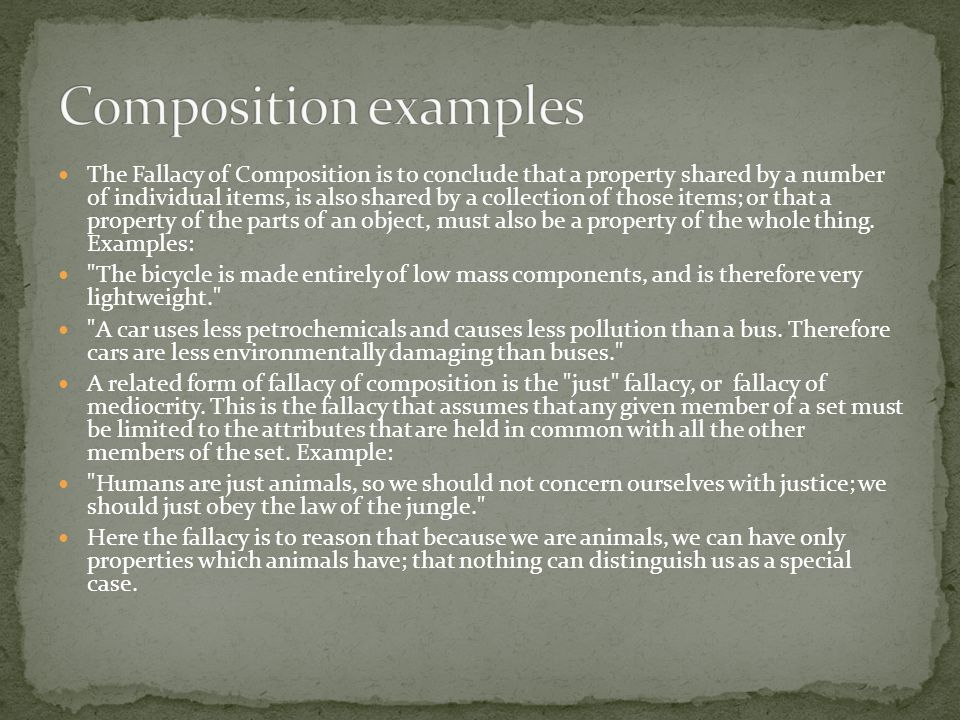 Composition examples
