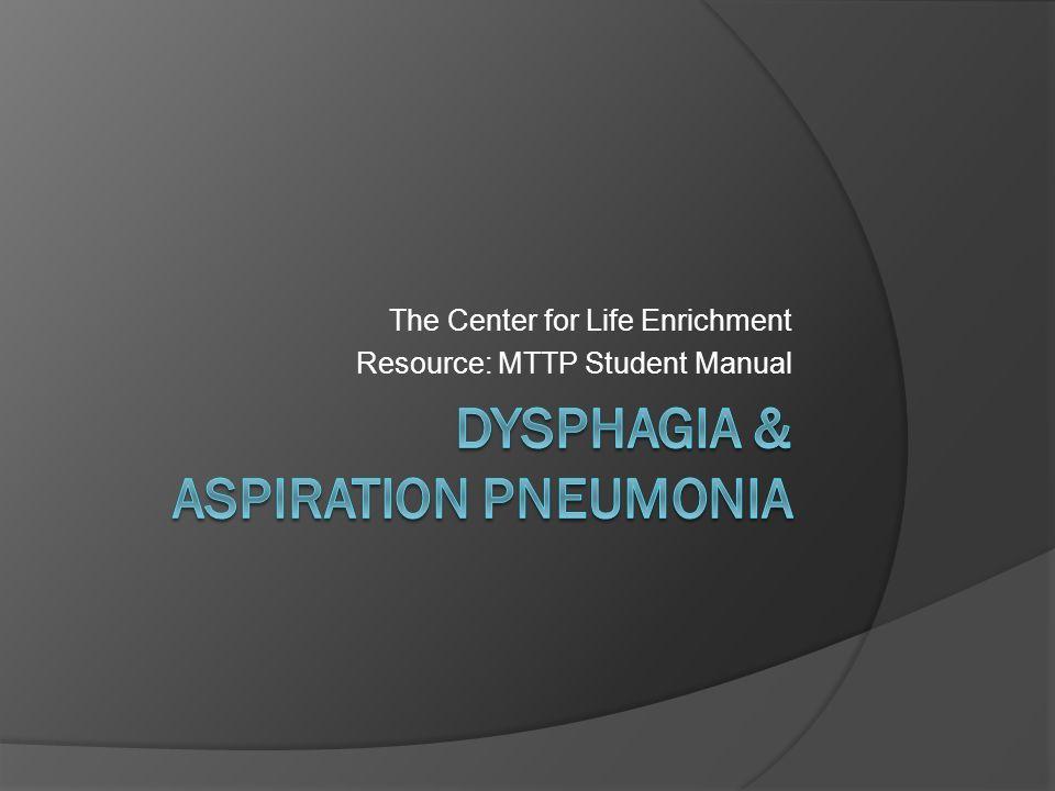 Dysphagia & Aspiration Pneumonia
