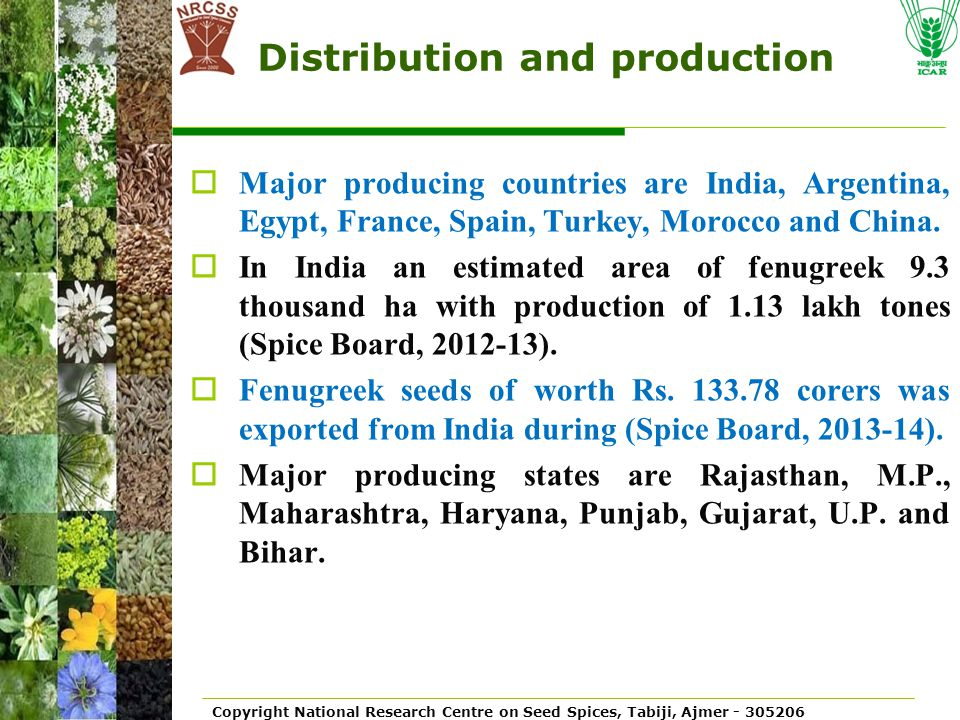 Distribution and production