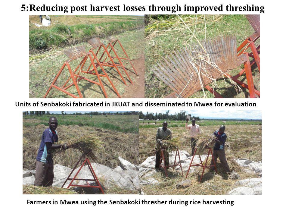5:Reducing post harvest losses through improved threshing