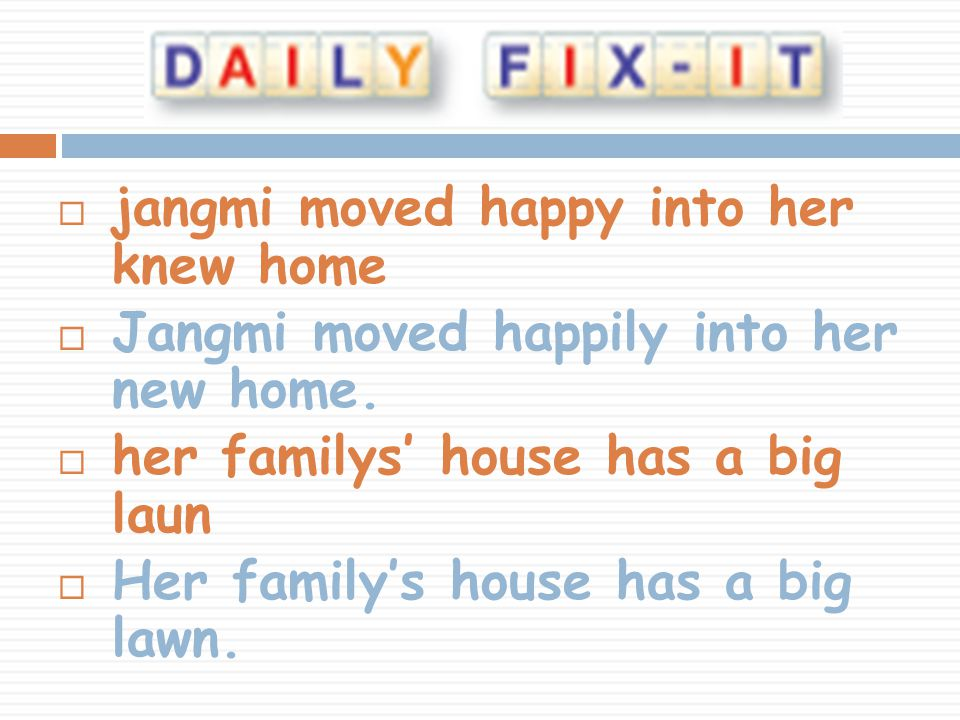 jangmi moved happy into her knew home