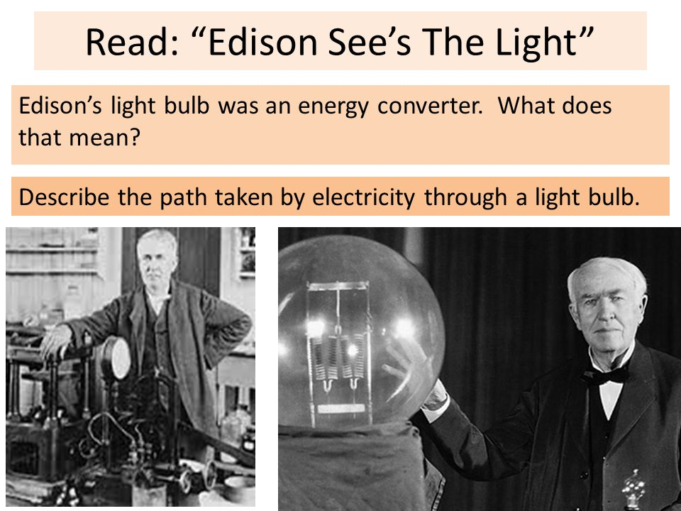 Read: Edison See's The Light