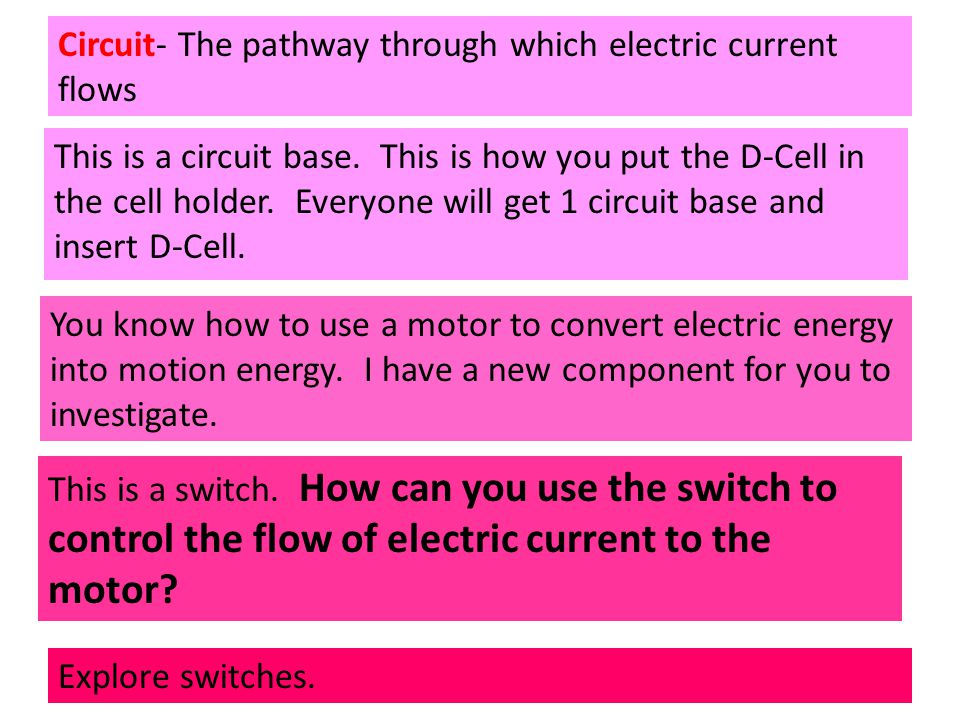 Circuit- The pathway through which electric current flows