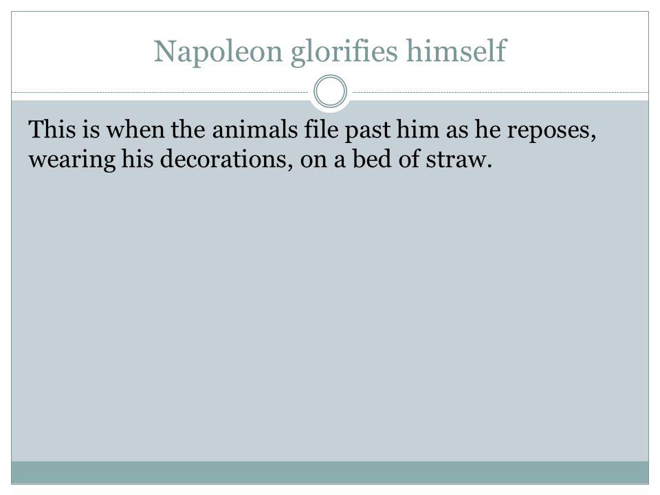 Napoleon glorifies himself