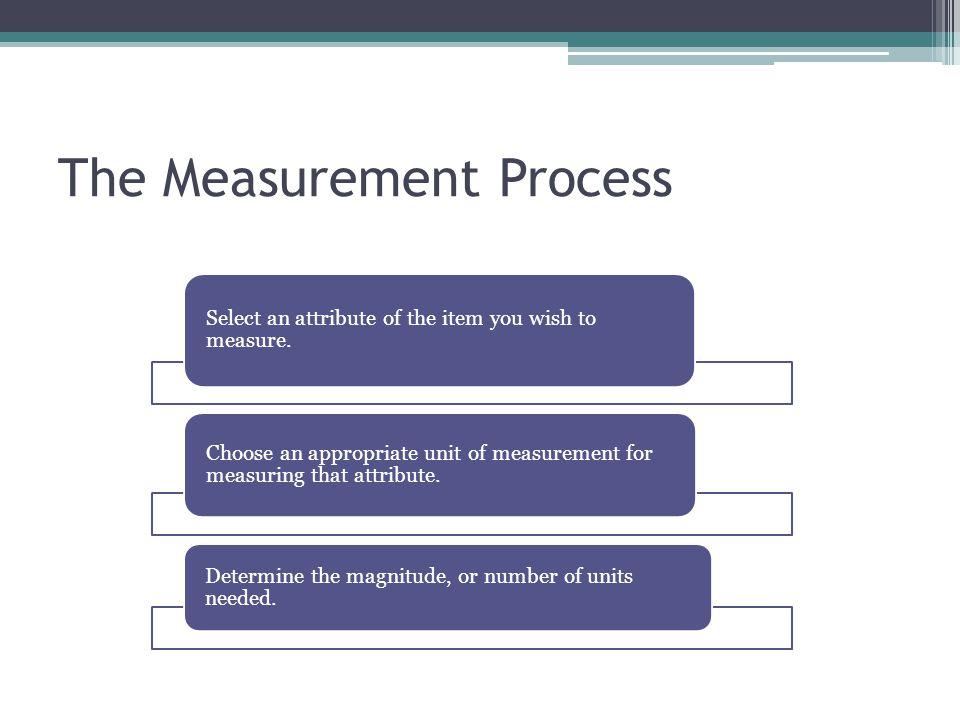 The Measurement Process