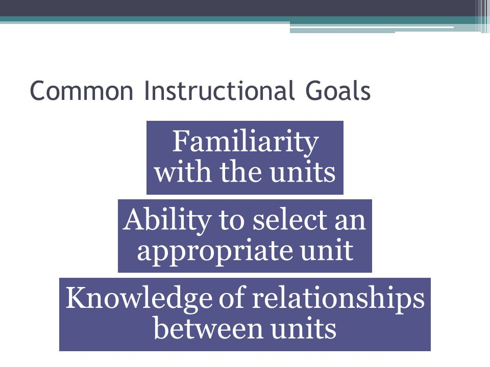 Common Instructional Goals