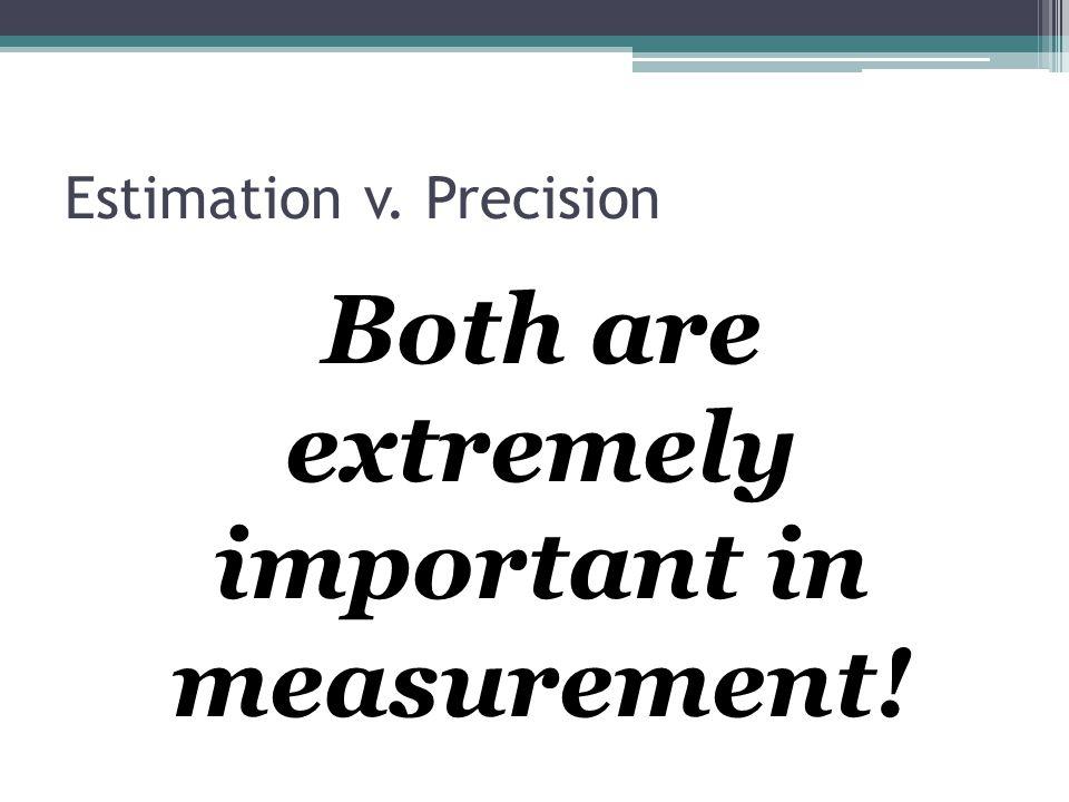 Estimation v. Precision
