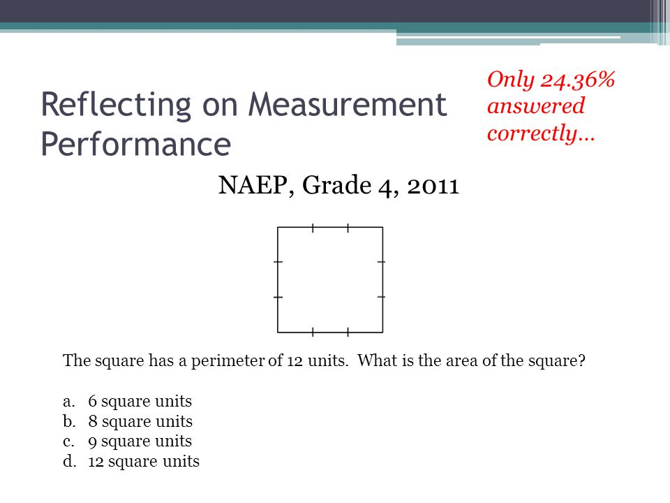 Reflecting on Measurement Performance