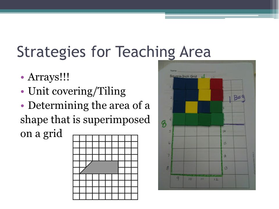 Strategies for Teaching Area