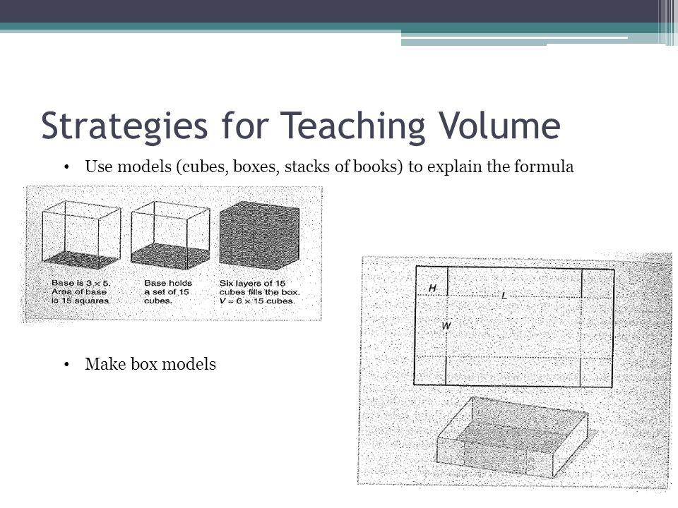 Strategies for Teaching Volume