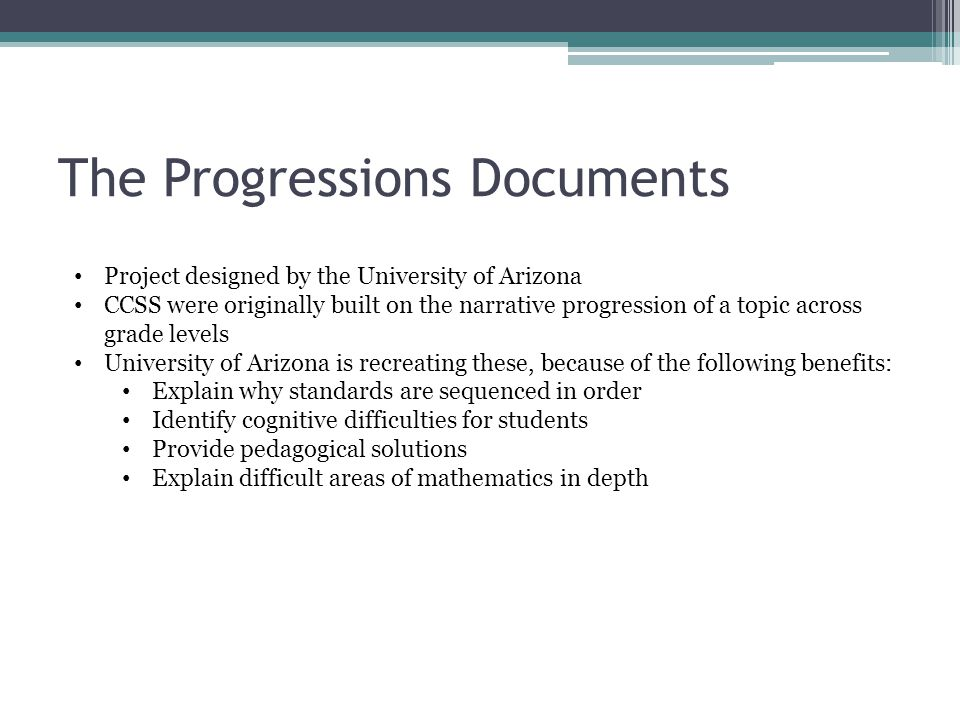 The Progressions Documents
