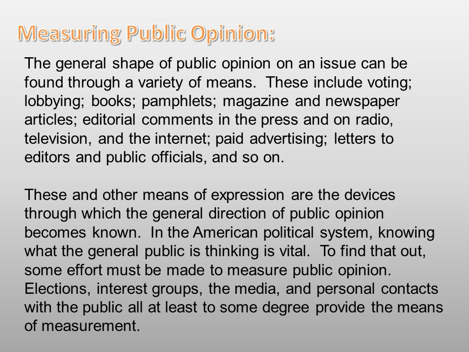 Measuring Public Opinion: