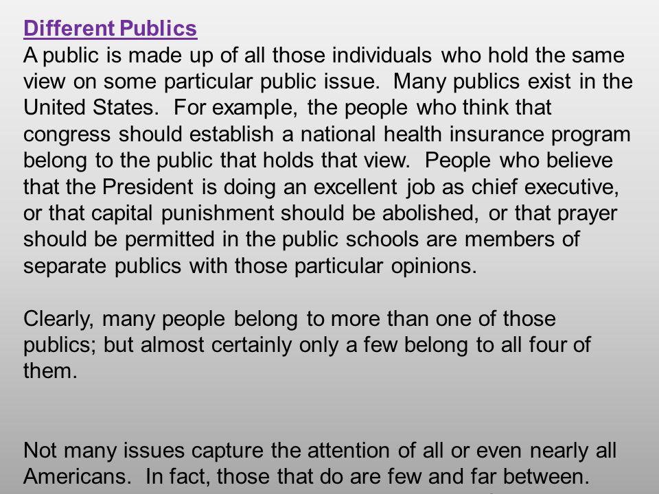 Different Publics