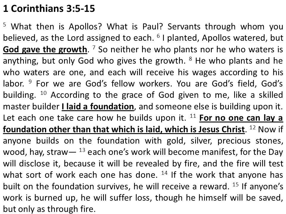 1 Corinthians 3:5-15