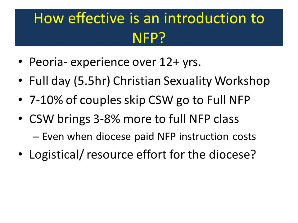How effective is an introduction to NFP
