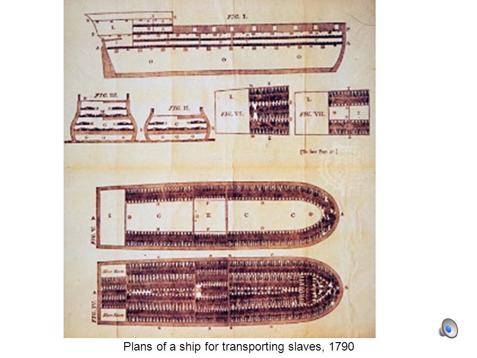 Plans of a ship for transporting slaves, 1790