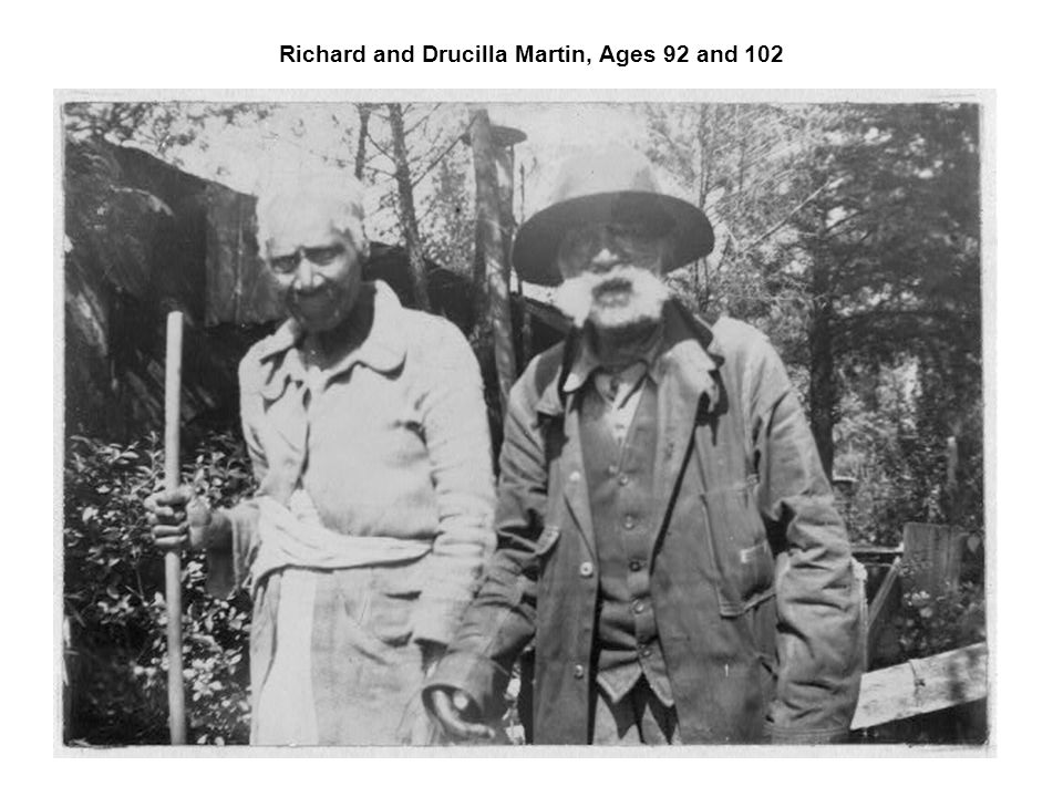 Richard and Drucilla Martin, Ages 92 and 102
