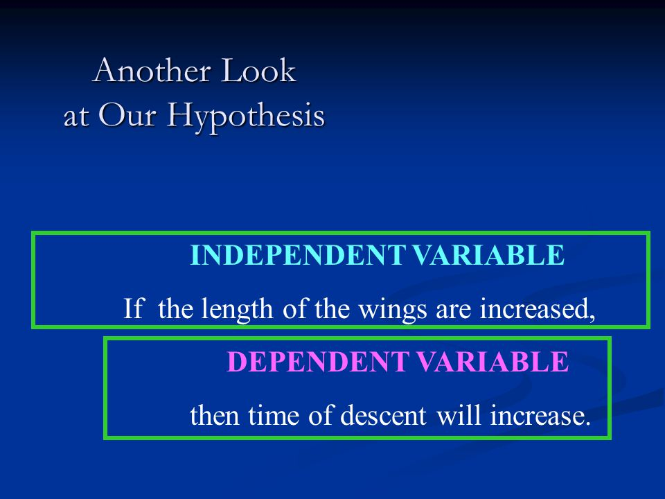 Another Look at Our Hypothesis