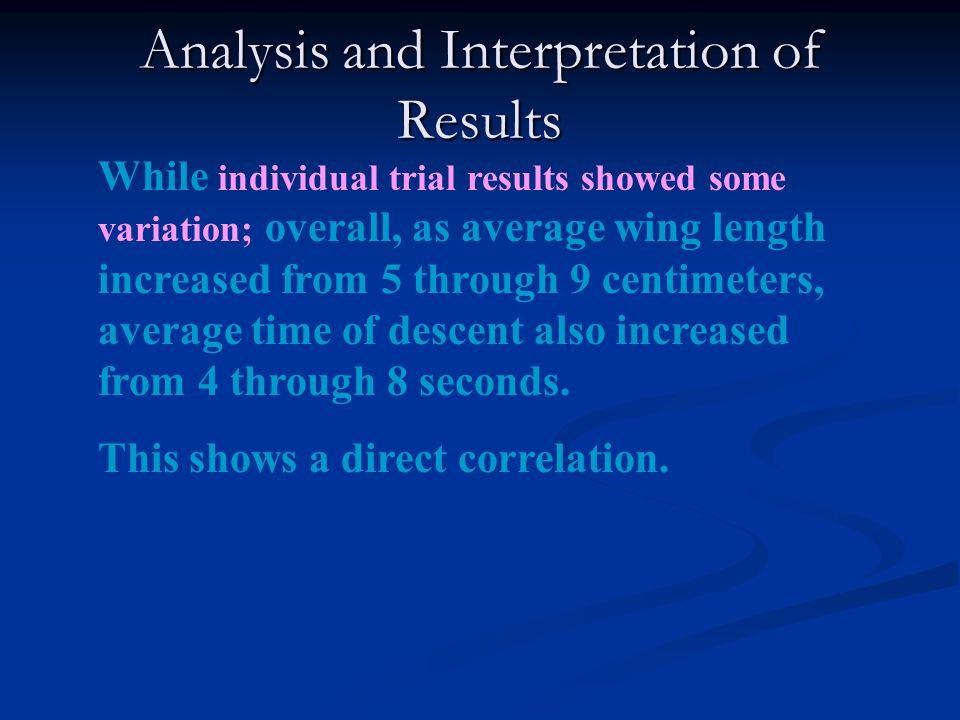 Analysis and Interpretation of Results