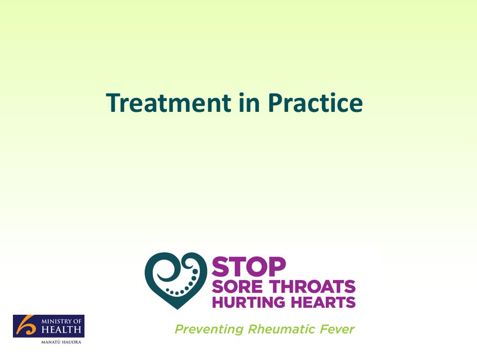 Treatment in Practice
